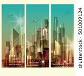 modern cityscape vertical... | Shutterstock .eps vector #501009124