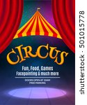 circus show poster template... | Shutterstock .eps vector #501015778