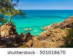 tropical beach island phuket... | Shutterstock . vector #501018670