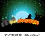 halloween background design... | Shutterstock .eps vector #501020134