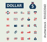 dollar icons  | Shutterstock .eps vector #501022060