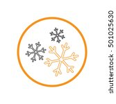 weather icon  snowflake sign | Shutterstock .eps vector #501025630