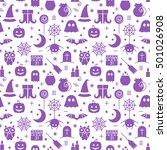 seamless halloween monochrome... | Shutterstock . vector #501026908