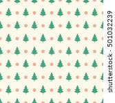 vintage christmas tree pattern... | Shutterstock .eps vector #501032239