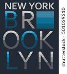 typography  tee graphic  vectors | Shutterstock .eps vector #501039310