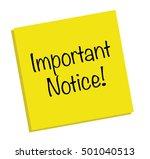 important notice note | Shutterstock .eps vector #501040513