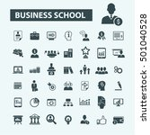 business school icons  | Shutterstock .eps vector #501040528