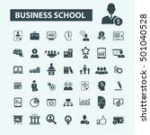 business school icons  | Shutterstock .eps vector #501040528
