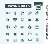 paying bills icons   Shutterstock .eps vector #501050248