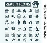 realty icons | Shutterstock .eps vector #501050338