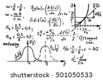 mathematics equations on... | Shutterstock .eps vector #501050533