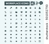 workplace icons | Shutterstock .eps vector #501052750