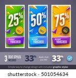 discount voucher template with... | Shutterstock .eps vector #501054634