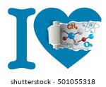 heart with chemistry symbols....   Shutterstock .eps vector #501055318