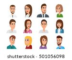 men and women business and...   Shutterstock .eps vector #501056098
