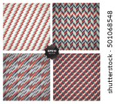 set of 4 seamless geometric... | Shutterstock .eps vector #501068548