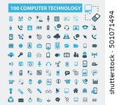 computer technology icons | Shutterstock .eps vector #501071494
