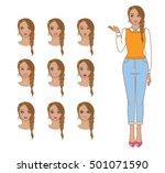 set of sexy attractive cartoon...   Shutterstock .eps vector #501071590