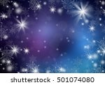 white snowflakes on a blue... | Shutterstock . vector #501074080