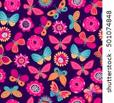 seamless pattern with... | Shutterstock .eps vector #501074848
