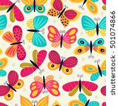 seamless pattern with... | Shutterstock .eps vector #501074866