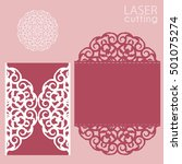 laser cut wedding invitation... | Shutterstock .eps vector #501075274