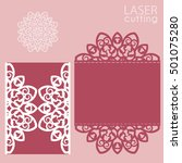 laser cut wedding invitation... | Shutterstock .eps vector #501075280