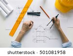 construction engineer working... | Shutterstock . vector #501081958