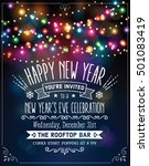 new year's eve party invitation ... | Shutterstock .eps vector #501083419