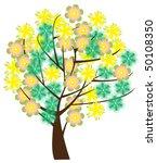 vector floral tree | Shutterstock .eps vector #50108350