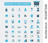 research development icons  | Shutterstock .eps vector #501087268