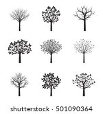 collection of black vector... | Shutterstock .eps vector #501090364