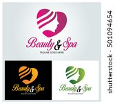 beauty   spa logo design... | Shutterstock .eps vector #501094654