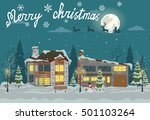 merry christmas card. vector... | Shutterstock .eps vector #501103264