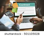 business contract terms legal... | Shutterstock . vector #501105028