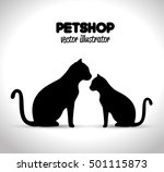 pet shop veterinary emblem... | Shutterstock .eps vector #501115873
