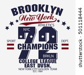 new york brooklyn sport wear... | Shutterstock .eps vector #501118444