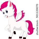 cute unicorn cartoon | Shutterstock .eps vector #501120070