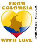 from colombia with love | Shutterstock .eps vector #50112025
