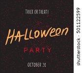 halloween grunge modern... | Shutterstock . vector #501122599