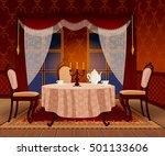 cartoon living room interior in ... | Shutterstock .eps vector #501133606