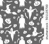 seamless pattern for halloween | Shutterstock .eps vector #501135700