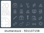 thin line medical set icons... | Shutterstock .eps vector #501137158