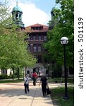 Small photo of Students walking through Diag on the University of Michigan campus