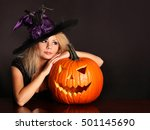 Witch With Halloween Pumpkin....