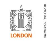 famous city emblem. london city ... | Shutterstock .eps vector #501146458