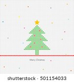 christmas tree made of dots  ... | Shutterstock .eps vector #501154033
