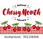 cherry month  celebrated each... | Shutterstock .eps vector #501158368