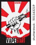 poster for vape shop. vector... | Shutterstock .eps vector #501163219