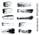 black ink vector brush strokes  ... | Shutterstock .eps vector #501165154